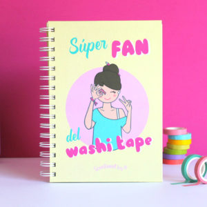Cuaderno SÚPER FAN DEL WASHI TAPE