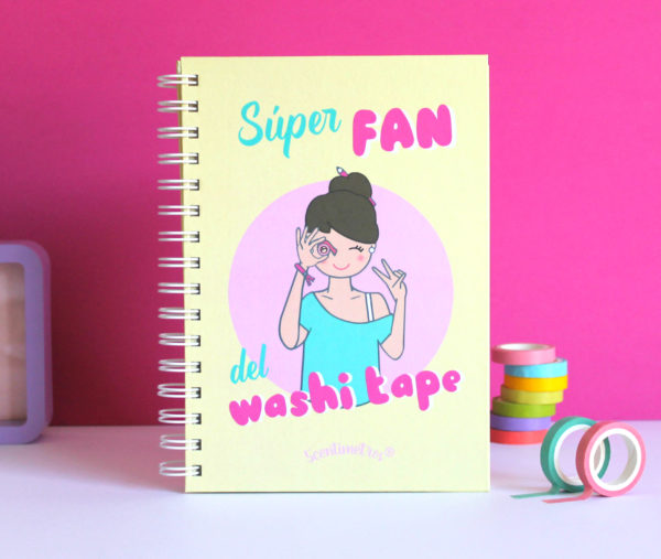 Cuaderno SÚPER FAN DEL WASHI TAPE