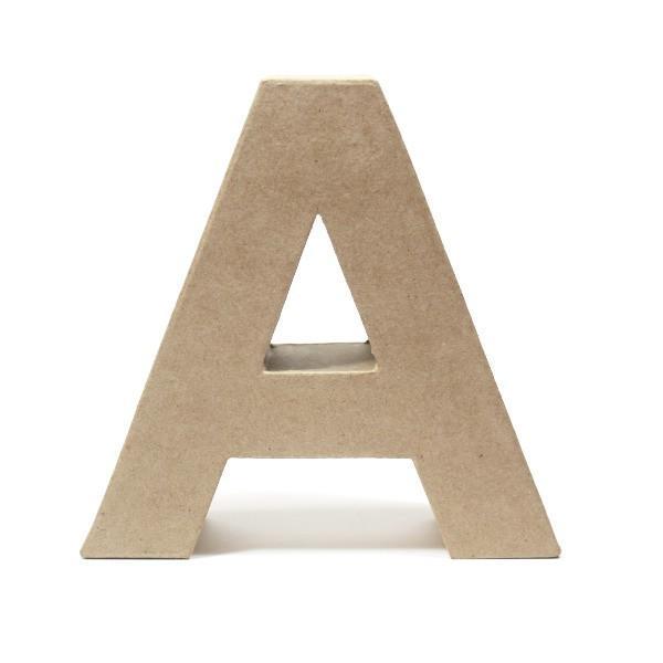 Letra A Cartón Craft