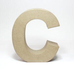 Letra C Cartón Craft