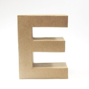 Letra E Cartón Craft