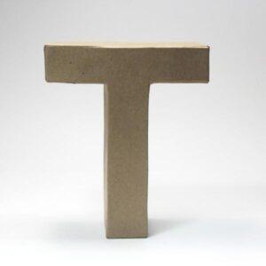 Letra T Cartón Craft