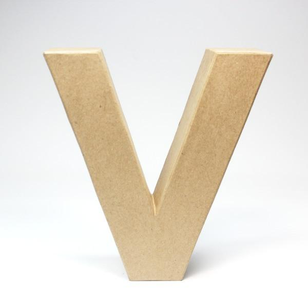 Letra V Cartón Craft