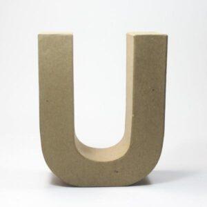 Letra U Cartón Craft
