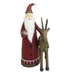 Papá Noel con Pajarito y Reno