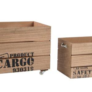 Set de 2 Cajas de Madera