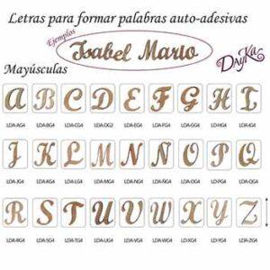 Letras Adhesivas Mayúsculas