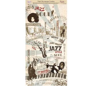 Papel Decoupage Música Jazz Blues Soul