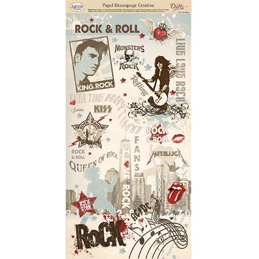 Papel Decoupage Música Rock & Roll
