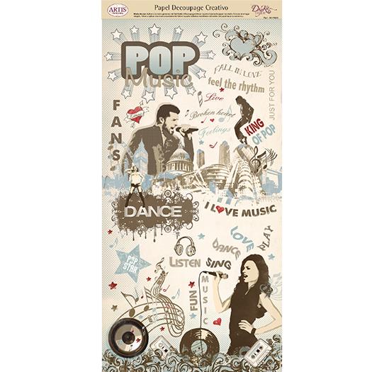 Papel Decoupage Música Pop