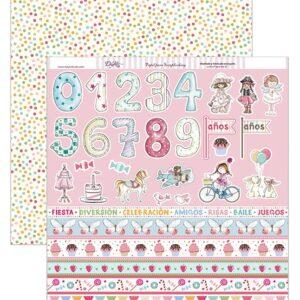 Papel 30×30 «Tiras números y niñas» SCP-205