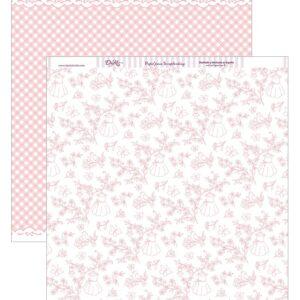 """Papel 30×30 """"Floral con Pajaritos, mariposas"""" SCP-265"""