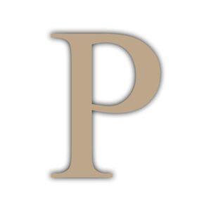 Letra P 15x11cm