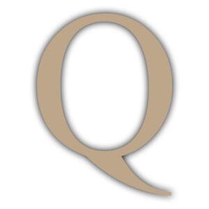 Letra Q 15x11cm