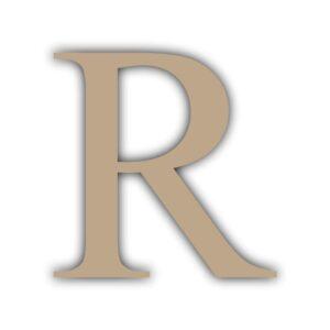 Letra R 15x11cm