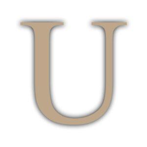 Letra U 15x11cm