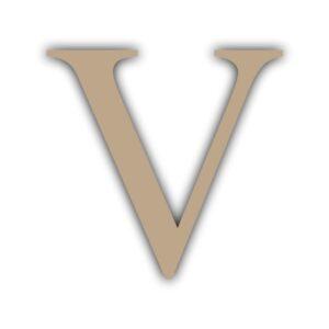 Letra V 15x11cm