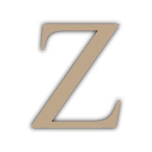 Letra Z 15x11cm