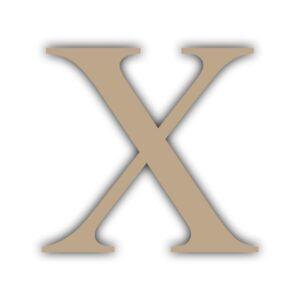 Letra X 15x11cm