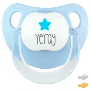 Chupete Deco Azul Pastel Estrella