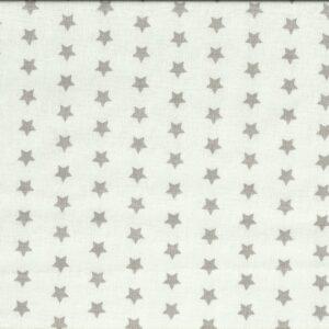 Mascarilla de Tela Estrellas Gris