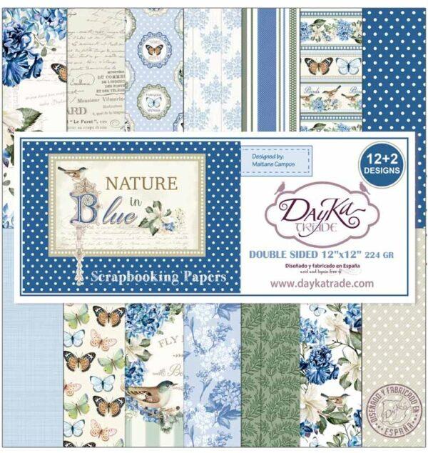 "Colección ""Nature in Blue"" 12×12″"