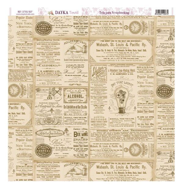 Tela Scrap Antique Newspaper
